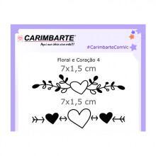 Clear Stamp Floral e Coração 04 CSF04
