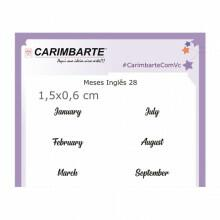 Cartela Clear Stamp Meses Inglês 28