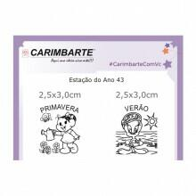 Cartela Clear Stamp Estação do Ano 43