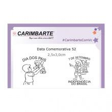 Cartela Clear Stamp Data Comemorativa 52