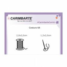 Cartela Clear Stamp Costura 68