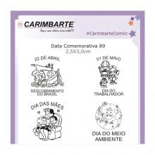 Cartela Clear Stamp Data Comemorativa 89