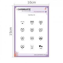 Cartela Clear Stamp Carinha 33