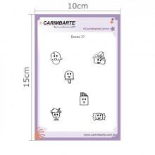Cartela Clear Stamp Doces 37