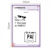Cartela Clear Stamp Papai 39