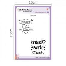 Cartela Clear Stamp Papai 41