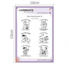 Cartela Clear Stamp Data Comemorativa 51
