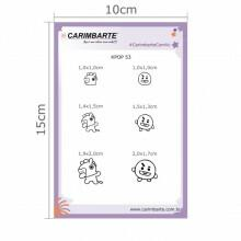 Cartela Clear Stamp KPOP 53