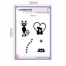 Cartela Clear Stamp Gatos 69