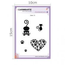 Cartela Clear Stamp Gatos 71