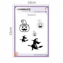 Cartela Clear Stamp Halloween 81